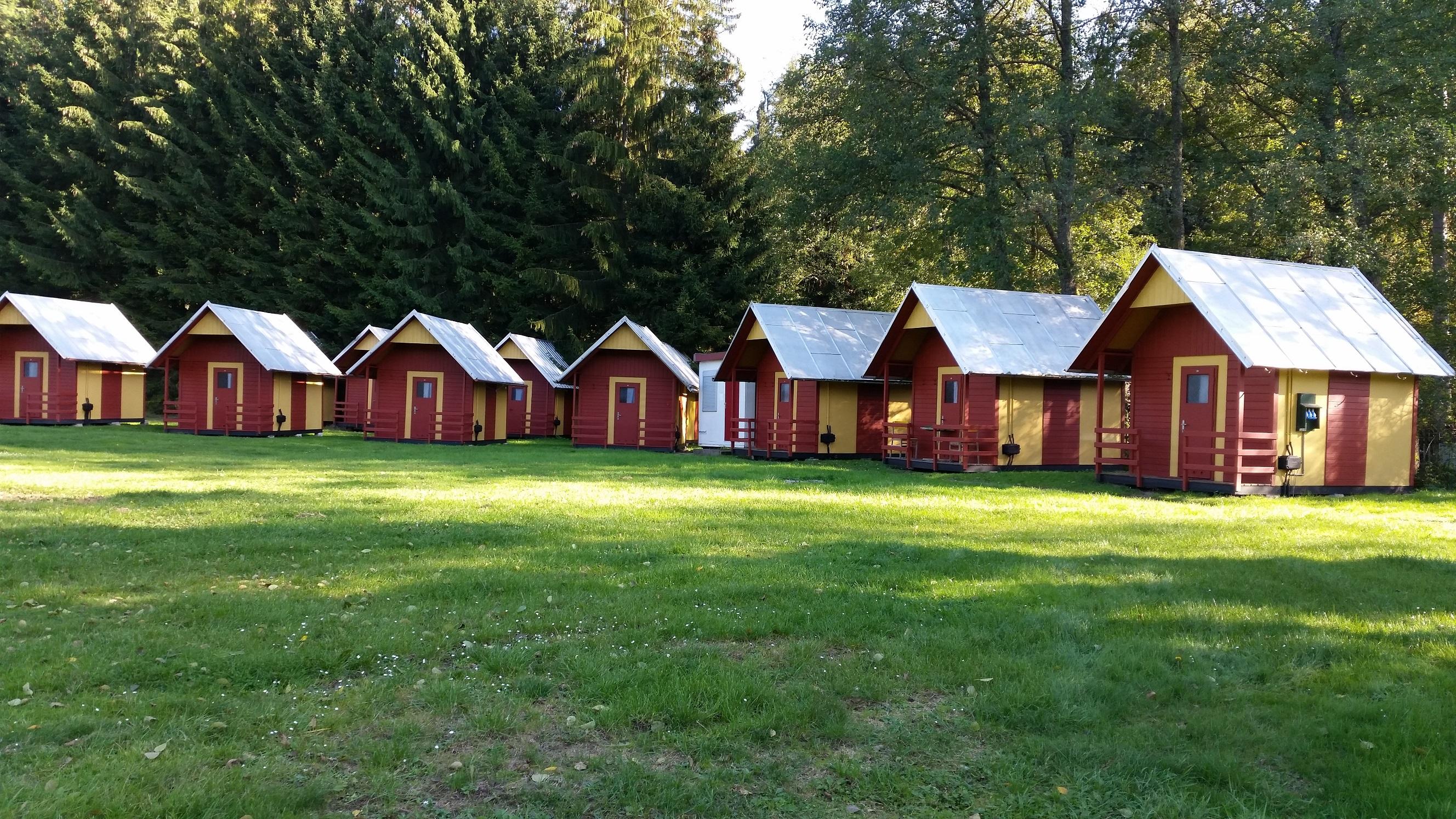 Trekkershut camping tsjechie